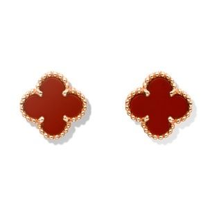 Jewelry - Four Leaf Clover Carnelian Earrings